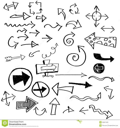 free doodle arrow vector doodle arrows stock illustration image of outline above