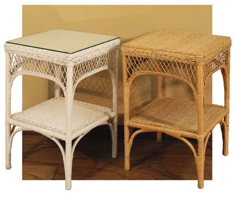 rattan end tables with glass top wicker lattice end table with glass top