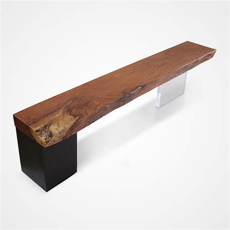 plexiglass bench acrylic and solid jatoba wood bench rotsen furniture