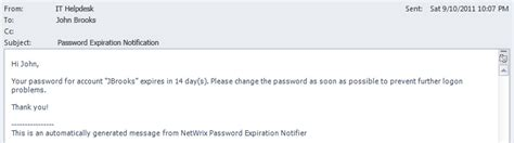 password reset notification email template password expiration alerting with netwrix auditor