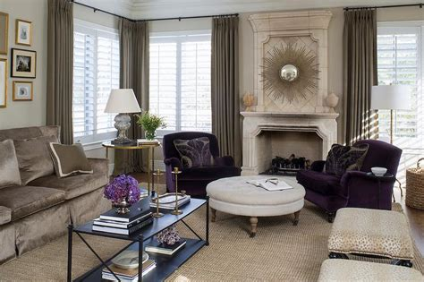 trends in interior design purple accent chairs design ideas