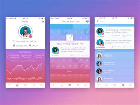 network layout app social network design ux for communication ux planet