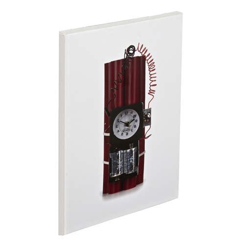 Alarm Bom Alarm Bomb Canvas Clock