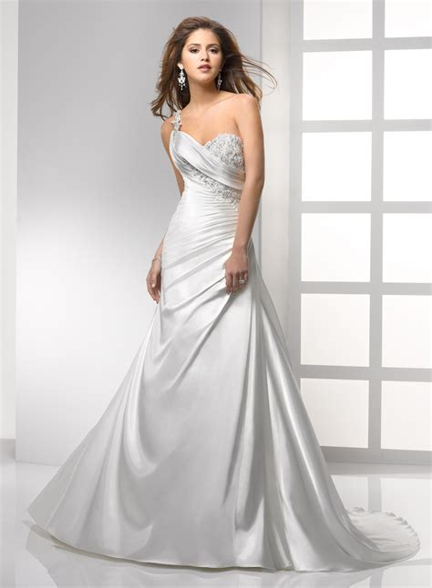 Satin Wedding Dresses by Satin A Line Sweetheart Neckline Wedding Dress With