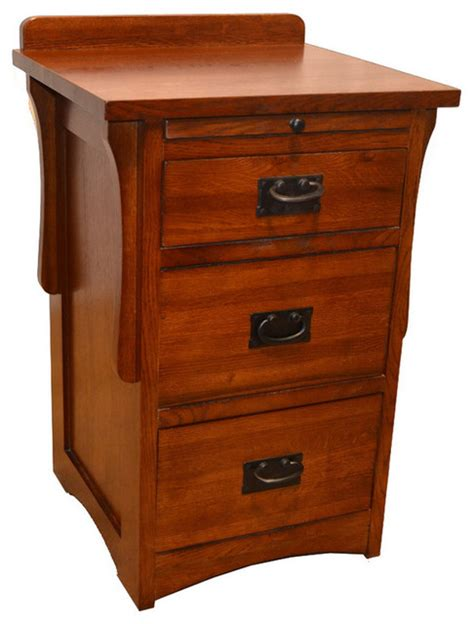 bedside l end table nightstand with 3 drawers usb mission 3 drawer end table craftsman nightstands and