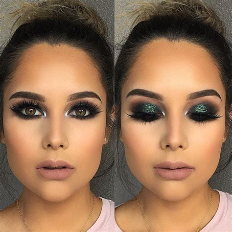 Brun Brun Melted Matte Lipstick this green smokey eye glam on this gorgeous