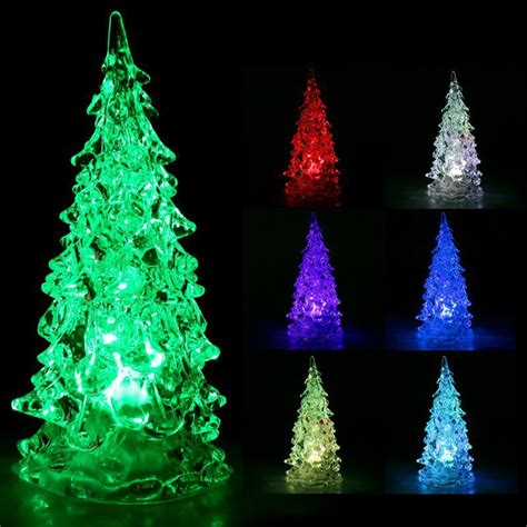 luminaria rgb colorful led christmas tree night light
