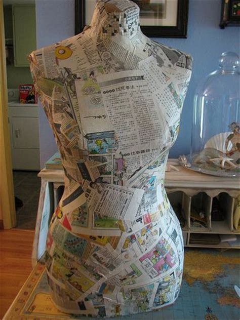 How To Make A Mannequin Out Of Paper Mache - wow she figured out how to make own faux dress form