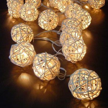 wicker christmas decor 20 white wicker rattan led rattan string lights wedding home