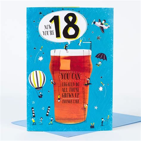 Birthday Card For 18 Year 18th Birthday Card Legal Only 99p