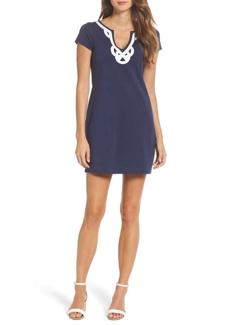 Contrast Trim Shirt Dress lilly pulitzer lilly pulitzer 174 brewster contrast trim t