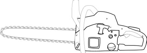 Chainsaw Coloring Pages chainsaw white outlined clip at clker vector