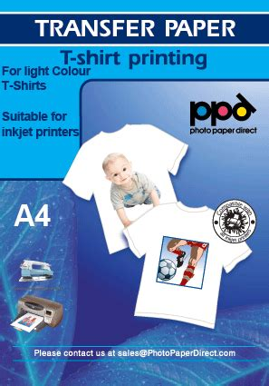 How To Make T Shirts With Transfer Paper - a4 light inkjet t shirt transfer paper at photo paper direct