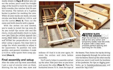 news and article garden arbor woodworking plans garden arbor plans woodarchivist