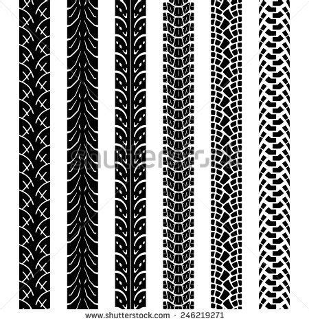 tire pattern brush collection motorcycle tire tracks seamless texture and