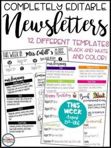 newsletter templates for teachers 25 best ideas about newsletter on