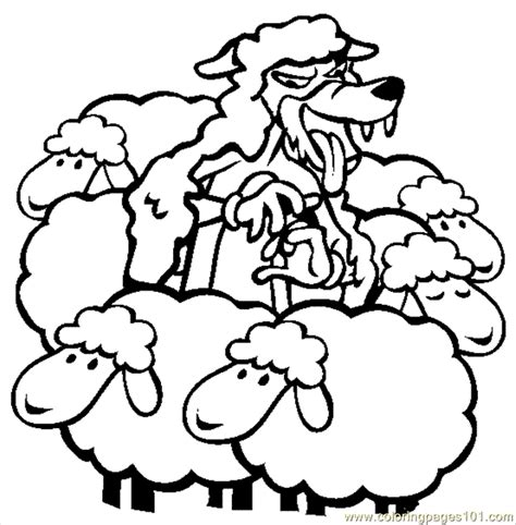 Wolf In Sheeps Clothing Coloring Page Free Wolf Coloring The Boy Who Cried Wolf Coloring Pages Printable