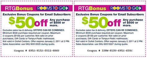 rooms to go promo code rooms to go 50 printable coupon
