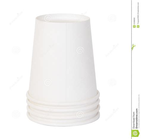 Paper cups stock image. Image of utensil, portable, white