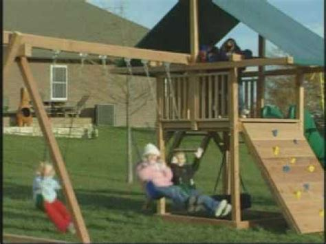 swing kings plymouth wooden swing sets by kids creations youtube