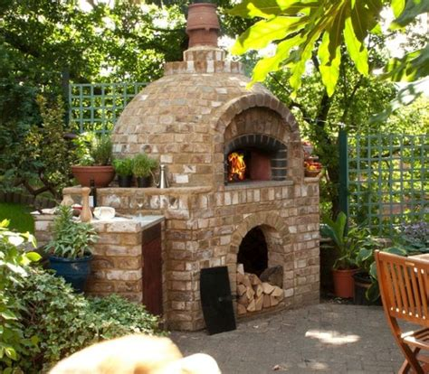build a brick oven backyard outdoor ovens you can build using recycled materials and