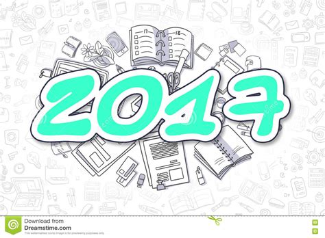 doodle sign up for event 2017 doodle green word business concept stock