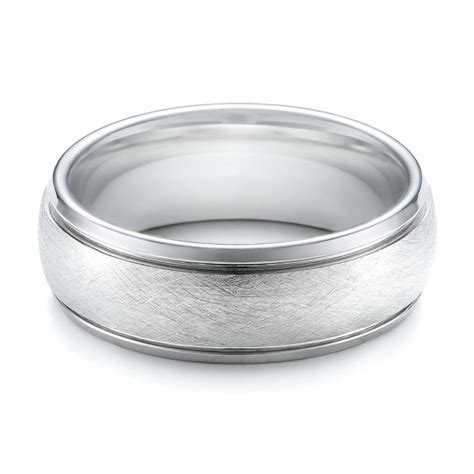 s wire brushed finish white tungsten band 101199