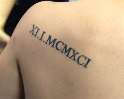roman numbers tattoo back 25 roman numerals tattoo on back