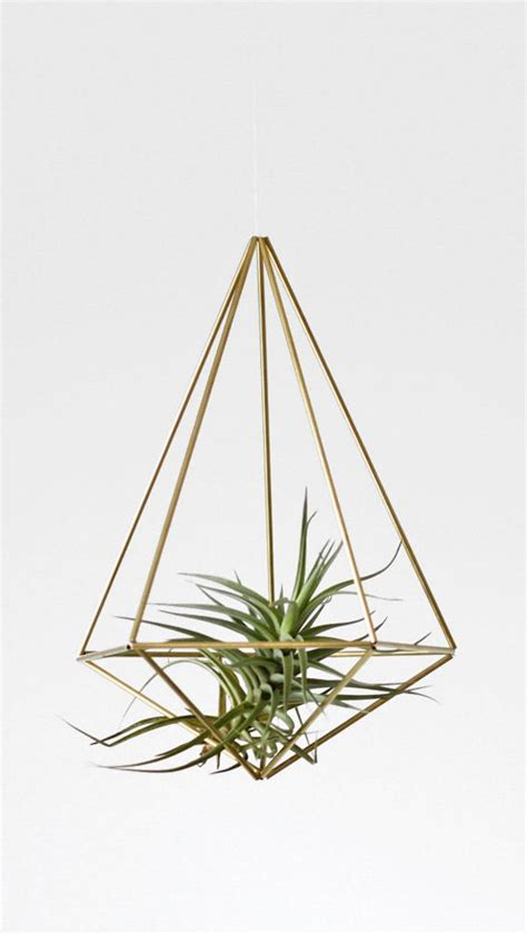 geometric hanging planter venti modern hanging mobile air plant holder himmeli planters furniture ideas and