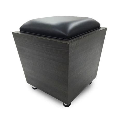 Square Gray Leather Ottoman Medium Size Of Coffee Round Top Grain Leather Storage Ottoman