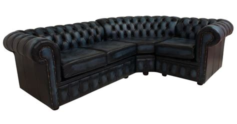 blue leather chesterfield sofa chesterfield corner sofa 2 seater corner 1 seater