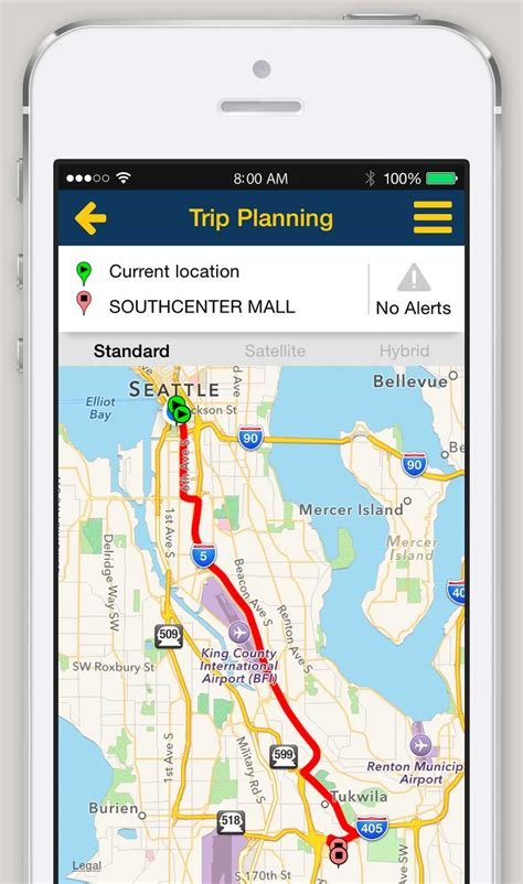 map for trip planning iphone and android app trip planner king county metro