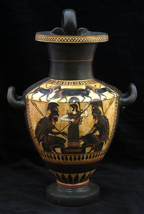 Hydria Vase by Classical Pottery Hydria Black Figured Hydria With