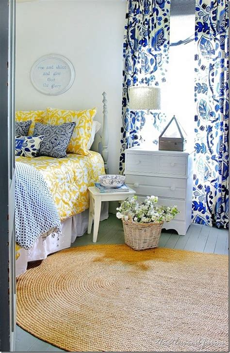 yellow and blue bedroom blue and yellow farmhouse bedroom bedroom blue bedroom 17894 | ec9eacc9cca2291fa73e65c43bd572a5