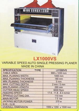 Bearing Pisau Mesin Profil Kayu Kecil Wood Trimmer Router lx1000vs variable speed auto single precision planer products of mesin kayu wood machinery