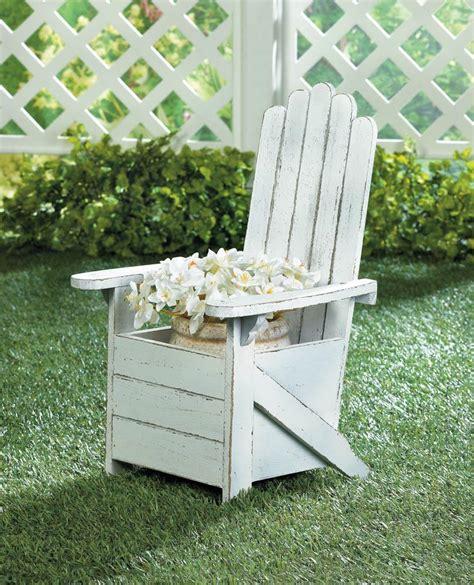 Adirondack Chair Planter by White Adirondack Chair Planter Wholesale At Koehler Home Decor