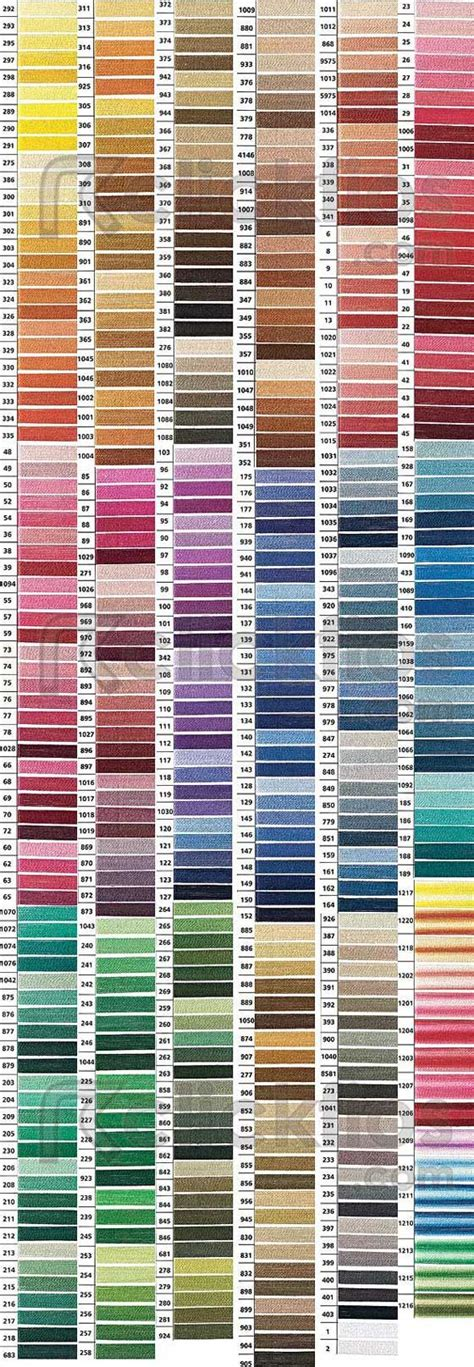 dmc floss color chart color charts charts and colour chart on