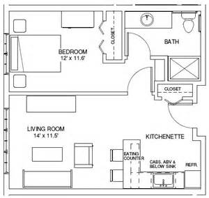 Floor Plan For 1 Bedroom House by One Bedroom Floor Plans 171 Unique House Plans