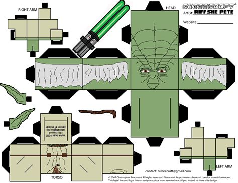 Yoda Papercraft - cubeecraft wars yoda www imgkid the image kid