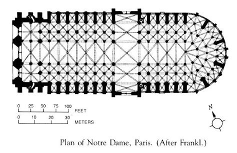 notre dame cathedral floor plan art now and then notre dame de paris