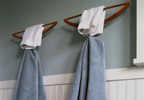 How To Make A Hanger Holder - 15 simple and inexpensive diy towel holder ideas top