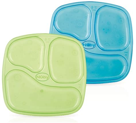 sectioned plates wash or toss sectioned plate 4 pack buybabydirect com