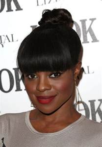 images of black braided bunstyle with bangs in back hairstyle keisha buchanan knot hairstyle with bangs for african