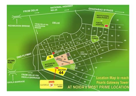 layout plan of sector 44 noida pearl gateway towers sale rent sector 44 noida location