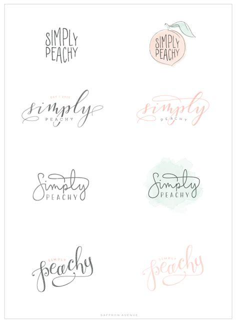 design a logo for your blog simply peachy logo and blog design saffron avenue