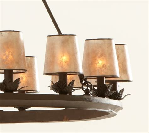 Mica Chandelier Shades Mini Mica Drum Chandelier Shade Set Of 3 Pottery Barn