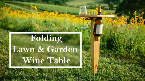 building  folding wine table youtube
