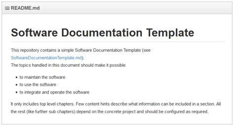 Software Documentation Template franz betteraey