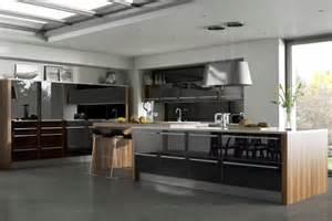 cuisine et bois moderne et 233 l 233 gante ideeco