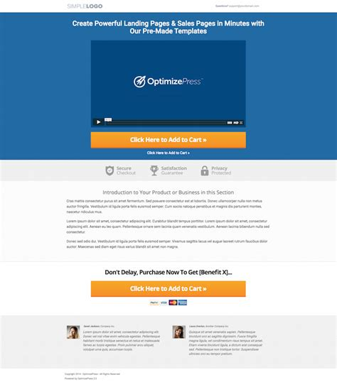 Awesome New Templates In Optimizepress 2 4 Optimizepress Sales Page Template